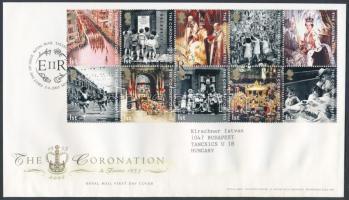 2003 Erzsébet királynővé koronázásának 50. évfordulója tizestömb Mi 2121-2130 FDC-n