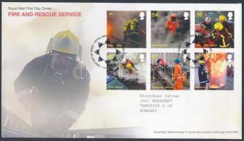 2009 Tűzoltó és mentőszolgálat sor Mi 2791-2796 FDC-n