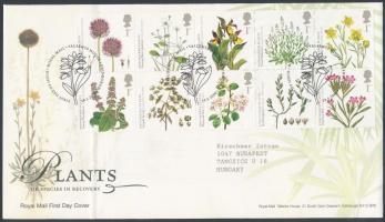 2009 Veszélyeztetett növények tizestömb Mi 2760-2769 FDC-n