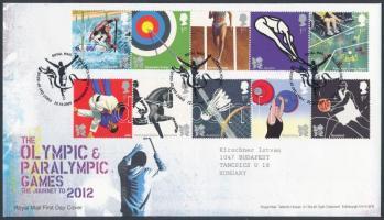 2009 Nyári olimpia és paralimpia, London (I.) 2 ötöscsík Mi 2815-2824 FDC-n