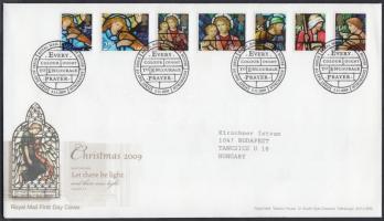 2009 Karácsony öntapadós bélyegek sor Mi 2832-2838 FDC-n