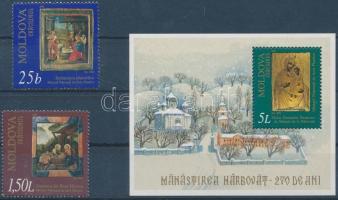 2000 Karácsony: miniatúrák sor Mi 376-377 + blokk Mi 22