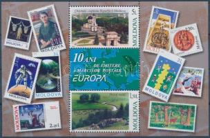 2003 10 éves a moldáviai Europa CEPT-bélyeg blokk Mi 29