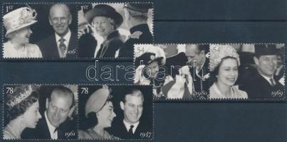 2007 A királyi pár 60. Házassági évfordulója 3 pár Mi 2574-2579