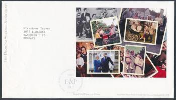 2007 A királyi pár 60. Házassági évfordulója blokk Mi 39 FDC-n