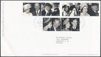 2007 A királyi pár 60. Házassági évfordulója 3 pár Mi 2574-2579 FDC-n