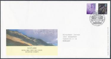 Skócia 2007 Forgalmi bélyeg sor Mi 95-96 FDC-n