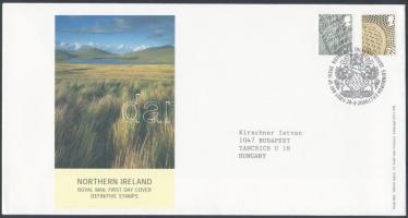 Észak Írország 2006 Forgalmi bélyeg sor Mi 92-93 FDC-n