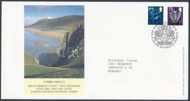 Wales 2006 Forgalmi bélyeg sor Mi 89-90 FDC-n