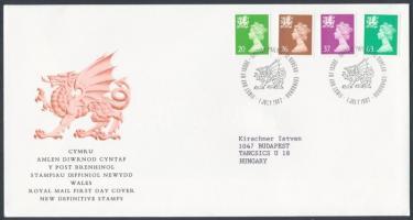 Wales 1997 Forgalmi bélyeg: II. Erzsébet sor Mi 72-75 FDC-n