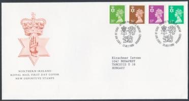 Észak Írország 1996 Forgalmi bélyeg: II. Erzsébet sor Mi 67-70 FDC-n