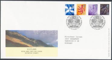 Skócia 2003 Forgalmi bélyeg sor Mi 84-87 FDC-n