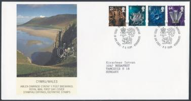 Wales 1999 Forgalmi bélyeg sor Mi 76-79 FDC-n