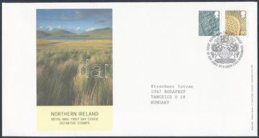 Észak Írország 2009 Forgalmi bélyeg sor Mi 111-112 FDC-n