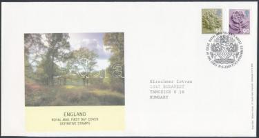 Definitive stamp set FDC, Forgalmi bélyeg sor FDC-n