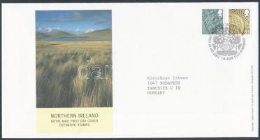 Észak Írország 2008 Forgalmi bélyeg sor Mi 105-106 FDC-n