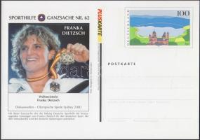 1999 Nyárii Olimpia, Sydney Sporthilfe magánkiadású 4 db díjjegyes levezőlap Mi PPSo 60 II