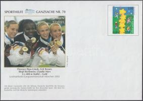 2000 Nyárii Olimpia, Sydney Sporthilfe magánkiadású 4 db díjjegyes boríték Mi USo 21