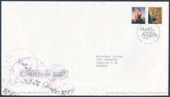2007 Karácsony öntapadós sor Mi 2596-2597 FDC-n