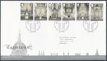 2008 Katedrálisok sor Mi 2641-2646 FDC-n