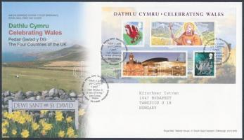 Wales 2009 Nemzeti ünnep blokk Mi 2 FDC-n
