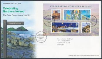 Észak Írország 2008 Nemzeti ünnep blokk Mi 1 FDC-n