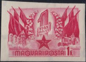 1955 Május 1. (VI) vágott bélyeg (6.000) / Mi 1421 imperforate stamp