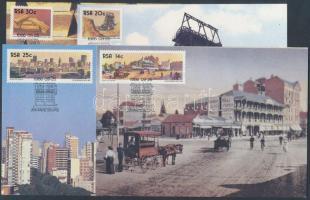 Centenary of Johannesburg set 4 CM, 100 éves Johannesburg sor 4 CM