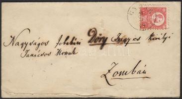 1874 Réznyomat 5kr levélen GYÖNK - Zomba