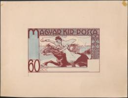 ~1920 Meg nem valósult eredet bélyegterv / Unissued stamp design