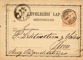 1874 Díjjegyes levelezőlap SZÉKESFEHÉRVÁR-WIEN