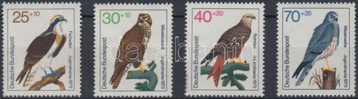 1973 Ragadozó madarak sor Mi 754-757
