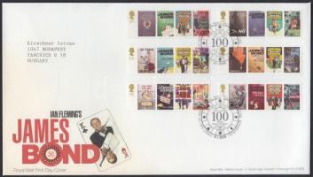 2008 Ian Fleming 100. születésnapja sor Mi 2599-2604 FDC-n