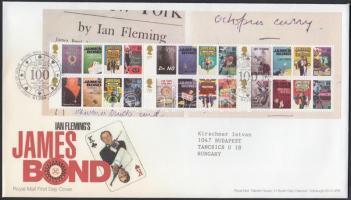 2008 Ian Fleming 100. születésnapja blokk Mi 42 FDC-n