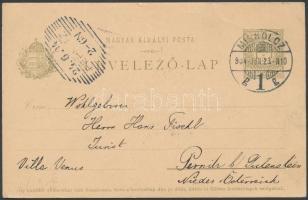 1904 Díjjegyes levelezőlap fordított vízjellel / PS-card with inverted watermark