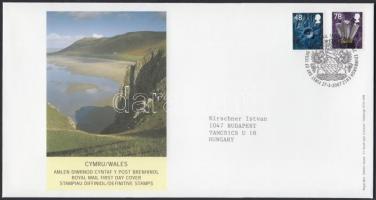 Wales 2007 Forgalmi bélyeg sor Mi 92-93 FDC-n