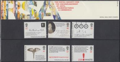 2004 Királyi társaság a művészetért, iparért és kereskedelemért sor Mi 2230-2235 díszcsomagolásban