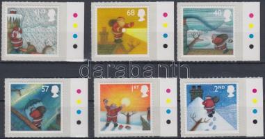 2004 Karácsony öntapadós ívszéli sor Mi 2258-2263