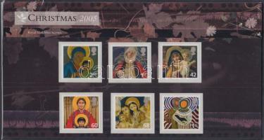 2005 Karácsony öntapadós sor Mi 2360-2365 díszcsomagolásban