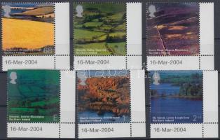 2004 Észak Írországi látkép ívsarki sor Mi 2195-2200
