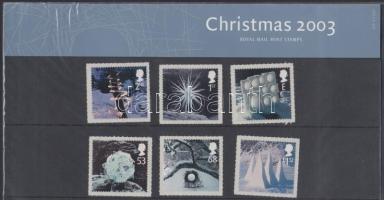2003 Karácsony öntapadós sor Mi 2164-2169 díszcsomagolásban
