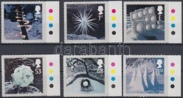 2003 Karácsony öntapadós ívszéli sor Mi 2164-2169