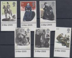 2005 Charlotte Bronte ívszéli sor Mi 2280-2285