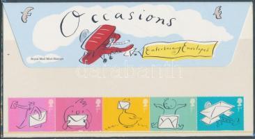 2004 Üdvözlő bélyegek: boríték ötöscsík Mi 2180-2184 díszcsomagolásban