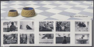 2001 Kutyák és macskák öntapadós tizestömb Mi 1914-1923 díszcsomagolásban