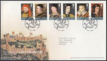 Rulers of House Lancaster and York set FDC, Lancaster és York házi uralkodók sor FDC-n