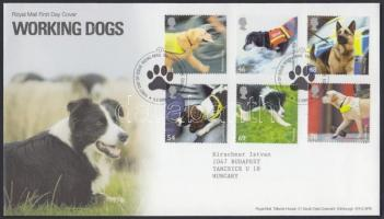 2008 Mentő kutyák sor Mi 2606-2611 FDC-n