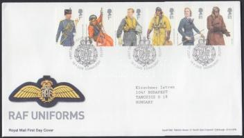 2008 A Királyi Légierő egyenruhái 2 db hármascsík Mi 2668-2673 FDC-n