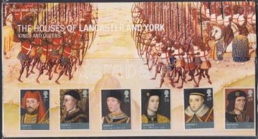 2008 Lancaster és York házi uralkodók sor Mi 2612-2617 + blokk Mi 43 díszcsomagolásban