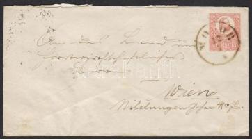 1874 5kr díjjegyes boríték MO(D)OR-POZSONY-WIEN